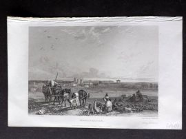 Roscoe 1834 Antique Print. Montpelier, France